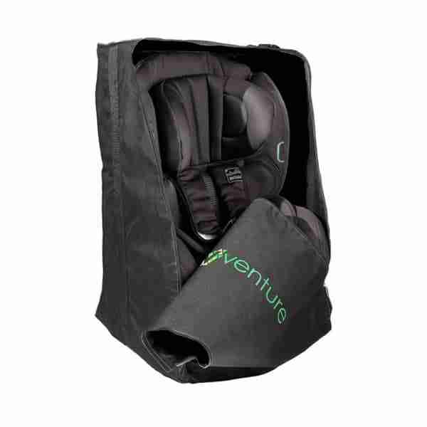 The car seat protector bag is universal and will hold most car seats