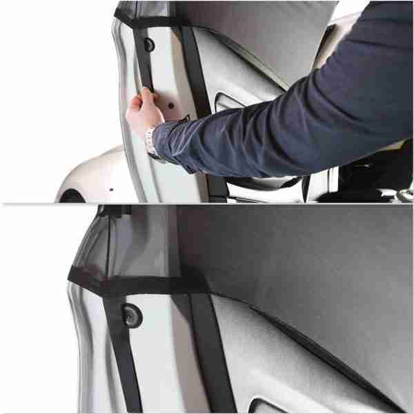 Venture car sun shades can be fitted quickly and easily