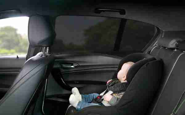 The Venture Car window shade keeps the sun out of your little ones eyes.
