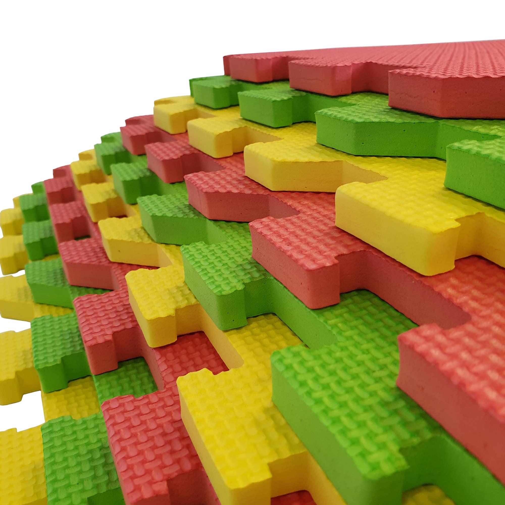 Each mat has an antislip pattern to help prevent falls.