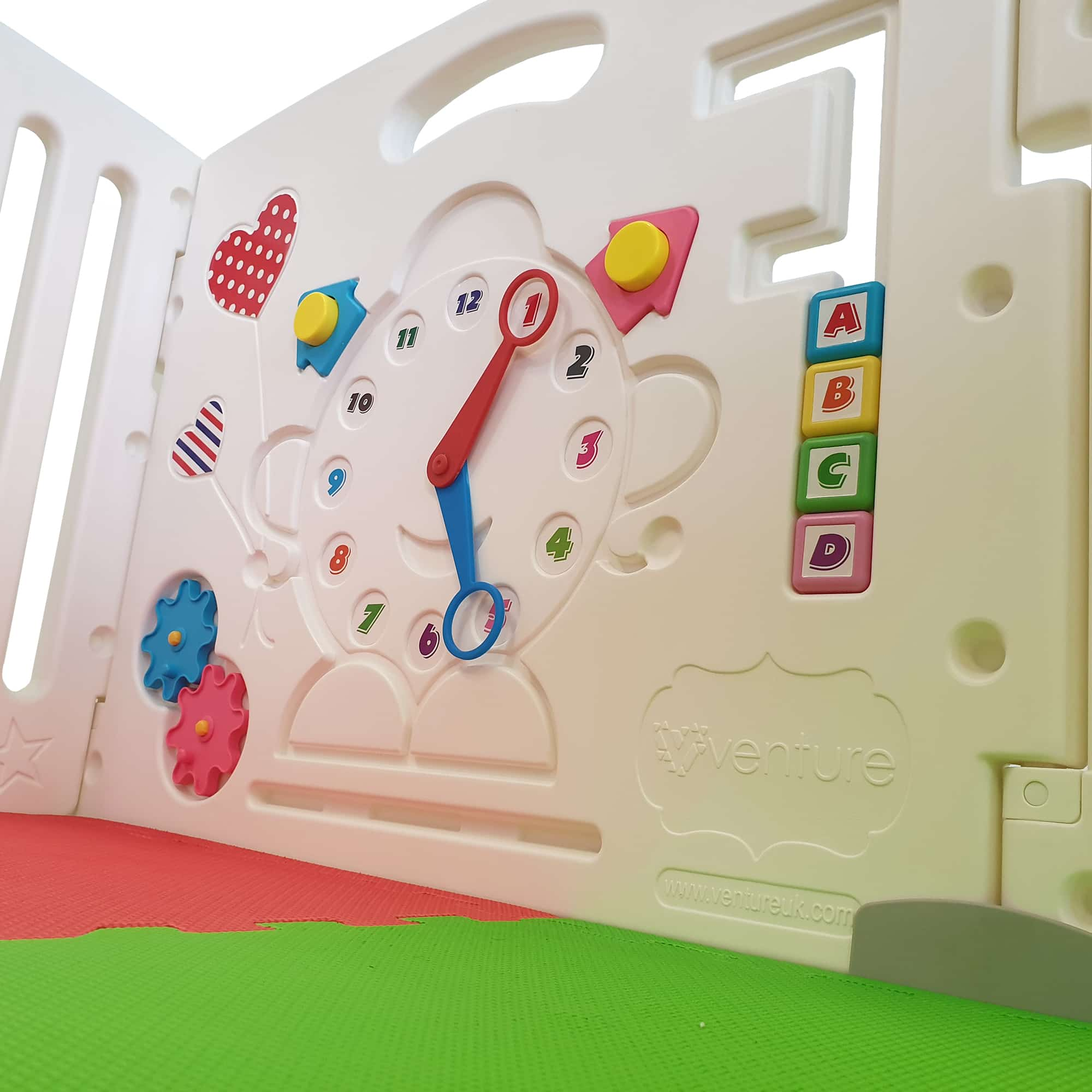 Activity panel included with Venture All Stars baby playpen