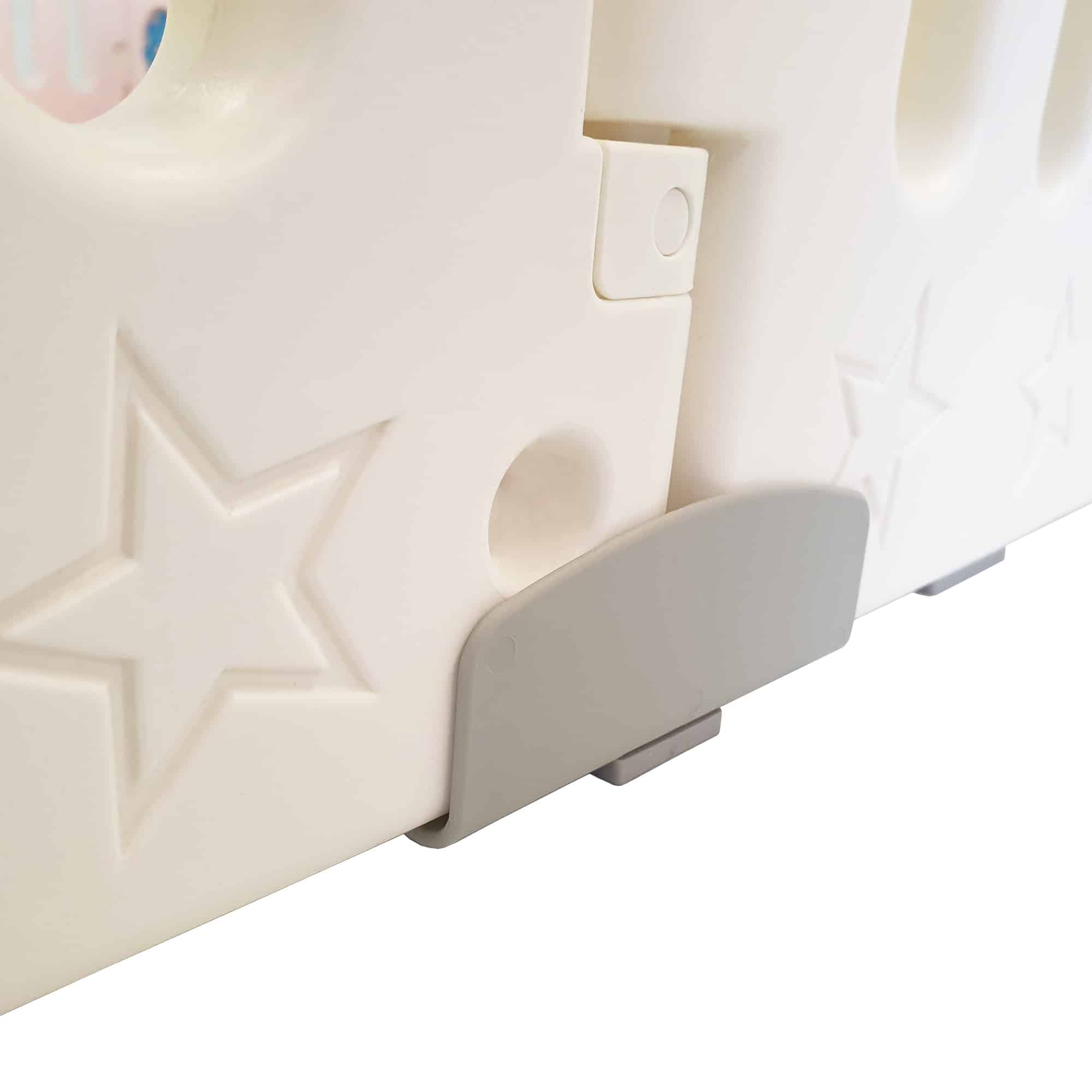 Securing clips are also included to give the playpen more stability.
