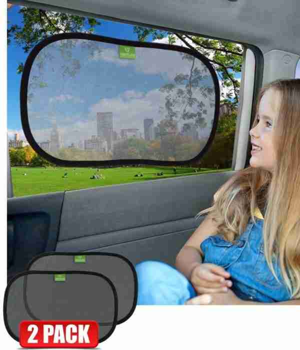 Ventures Universal static cling window shades keep your child protected
