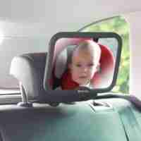 Baby car mirror in Black