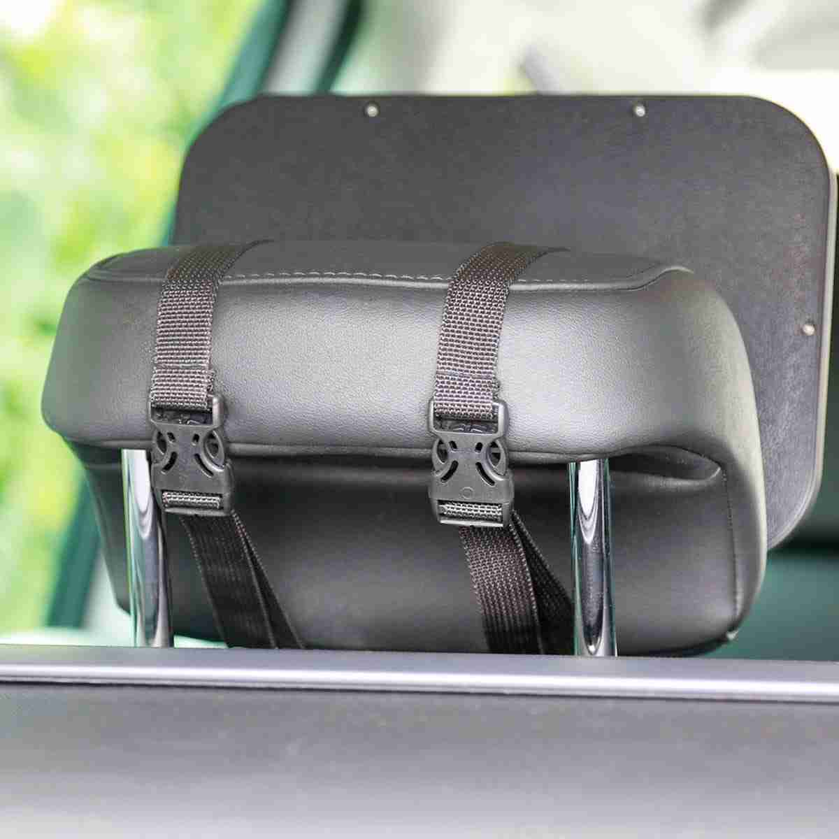 The Acti-Vue car mirror attaches easily to the cars headrest