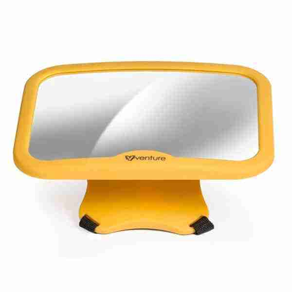 Anti-vibration mount prevents movement on the mirror
