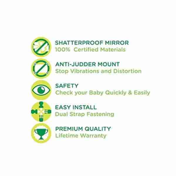 The features of the Venture Acti-Vue car mirror