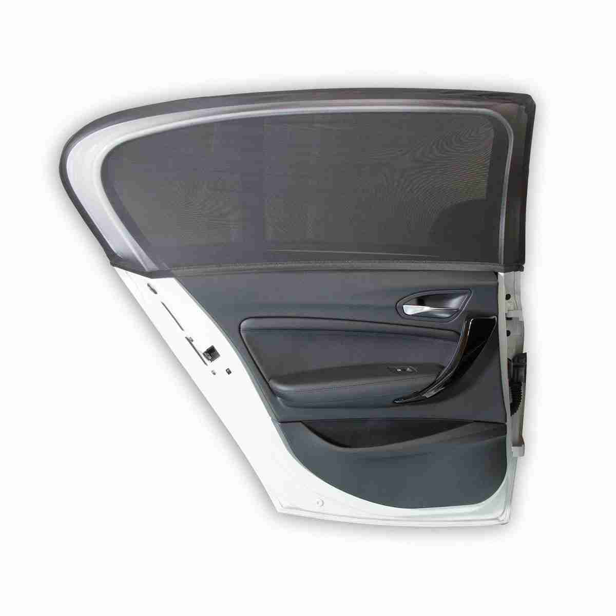 Streches over the contour of your door frame to protect passengers from UV rays and glare.