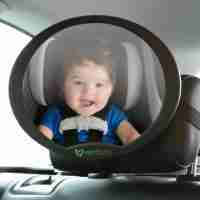 The Venture Acti-Vue car mirror attaches to the headrest to give you the best view of your little one.