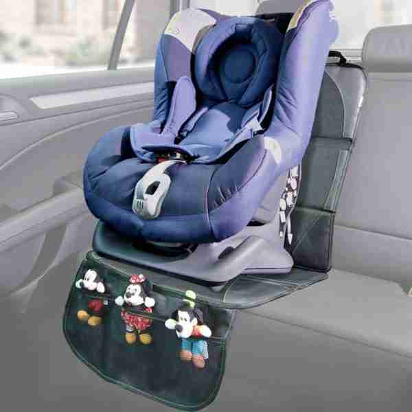 Venture car seat protector with character holder