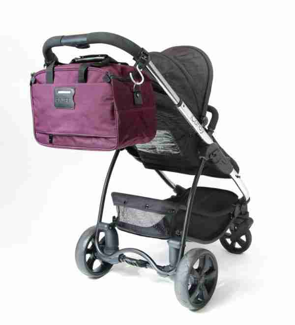 Venture buggy hooks can be used to attach existing bags to the handlebars of your pram.