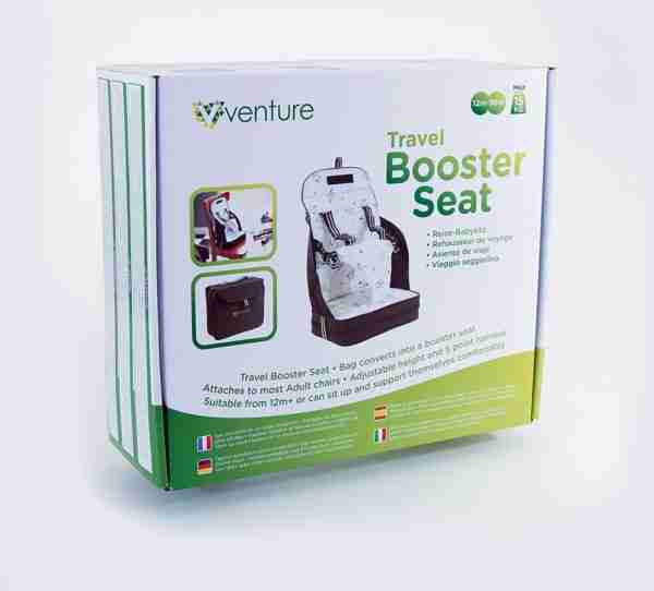 Venture travel booster seat packaging