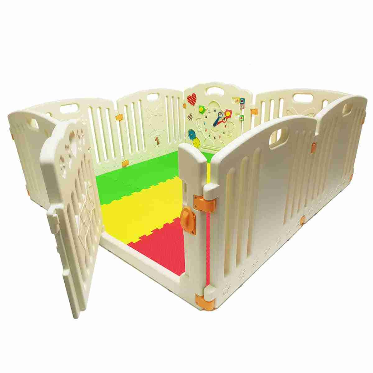 The Venture All Stars playpen with 9 new coloured mats