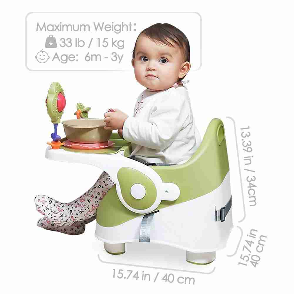Sizing and weight restrictions on the Venture Q-Fix portable travel high chair