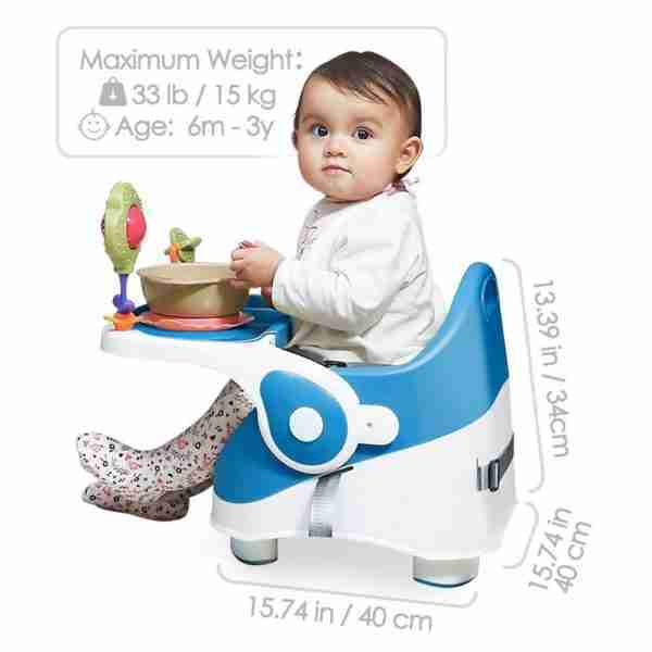 Venture Q-Fix high chairs are suitable for children up to the age of 3 and a weight of 15kg