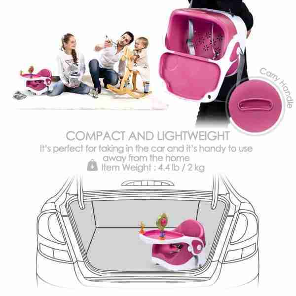 Venture Q-Fix Travel high chairs are compact and lightweight meaning they can be transported quickly and easily