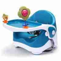 Venture Q-Fix travel high chair in blue.