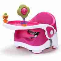 Venture Q-Fix travel high chair in pink