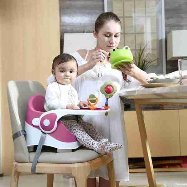 Venture Q-Fix feeding high chair in pink