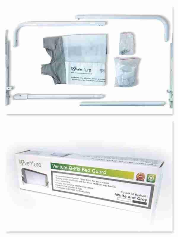 Venture Q-Fix Bed Guard packaging