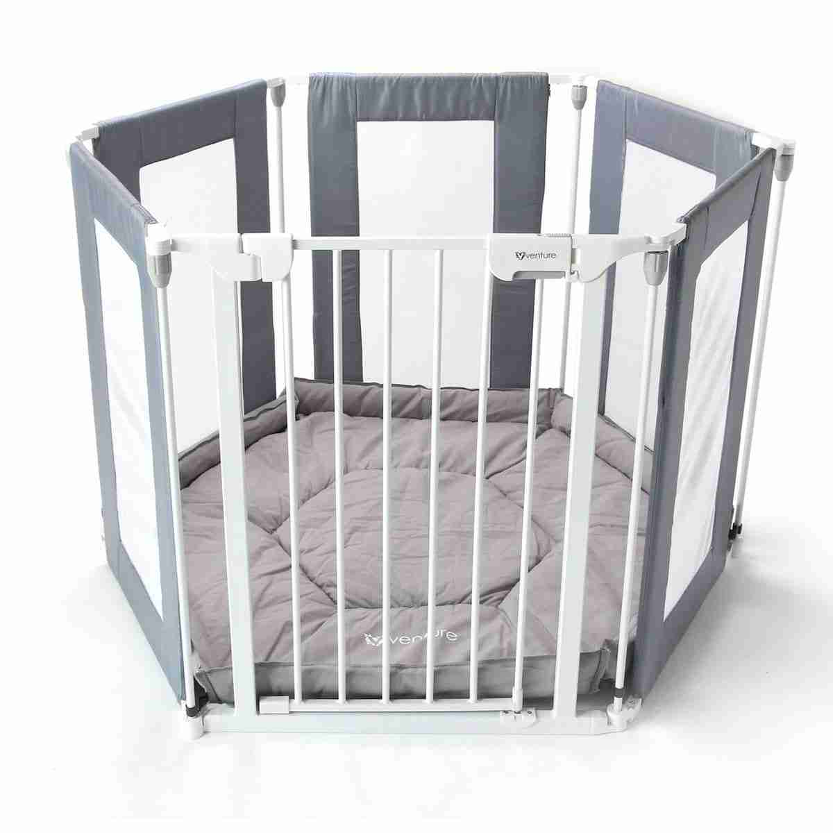 Venture All Stars HEX playpen in grey