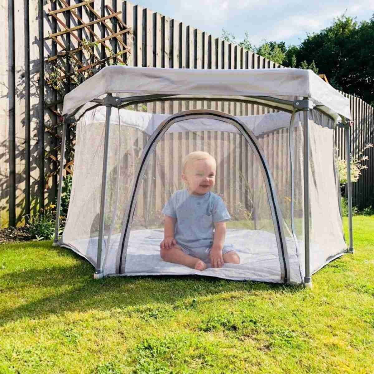 Venture All Stars JOY playpen is great for use outdoors