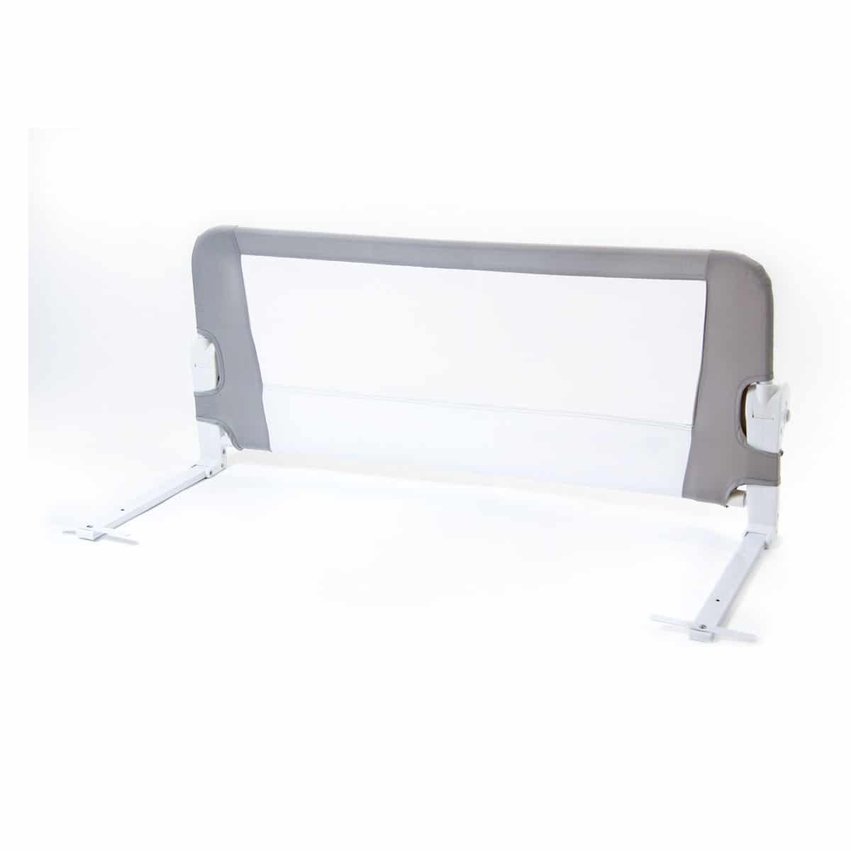 The Bed Guard can be easily attached to the base of the bed frame