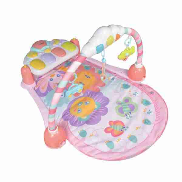 pink activity mat and play gym