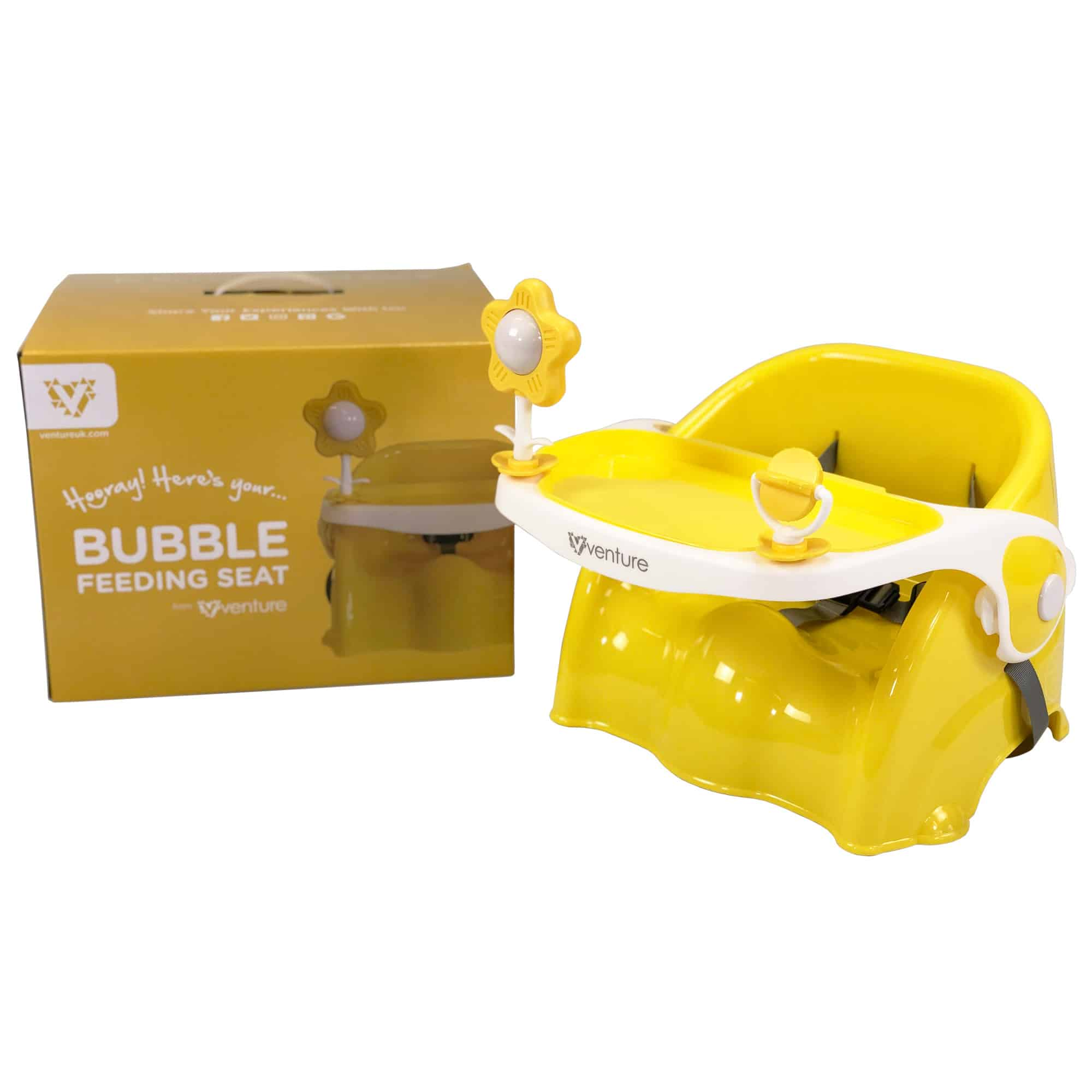 Venture Bubble booster seat in Sunny yellow with box