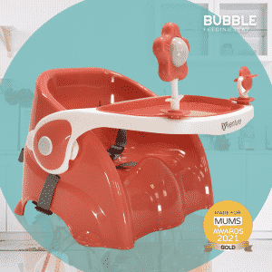 Venture Bubble Booster And Feeding Seat In Coral