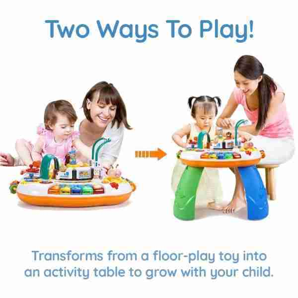 Two ways to play, in floor or table mode