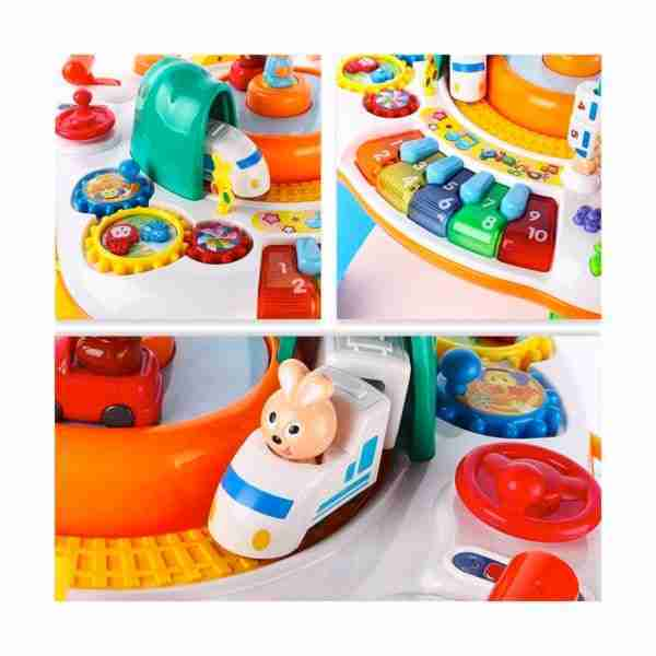 Toys and characters integrated into the activity table