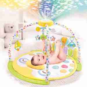 Activity gym with built in nightlight