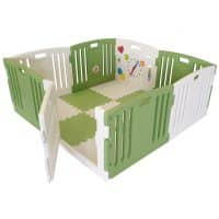 The Venture All Stars DUO Baby Playpen in Green