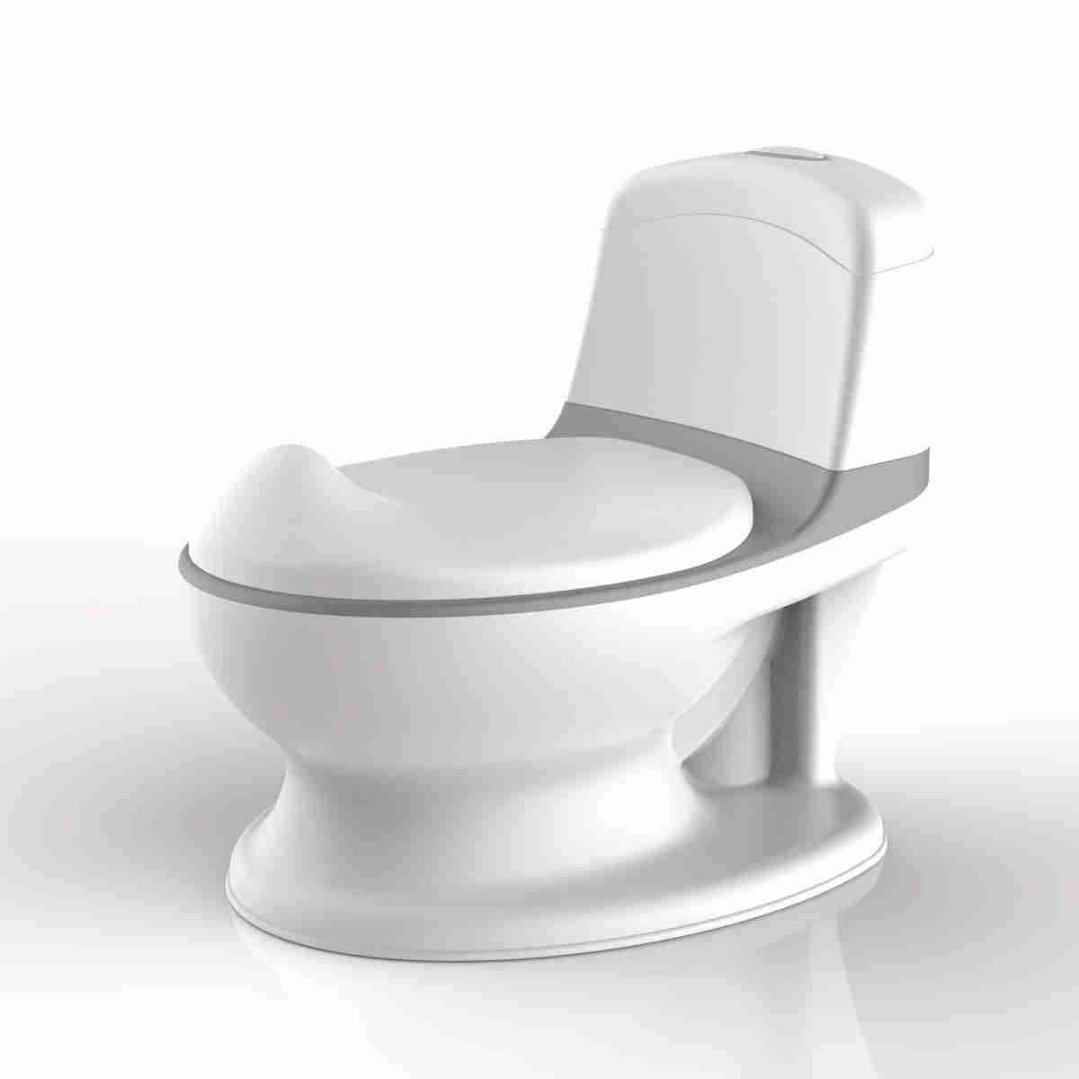The Pote Plus features a cistern design making it a miniture toilet