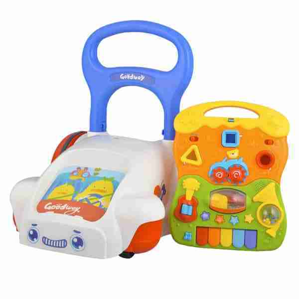 The baby walkers toy panel can be removed for fun on the go!