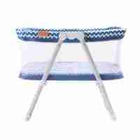 Hush-Lite travel crib in blue