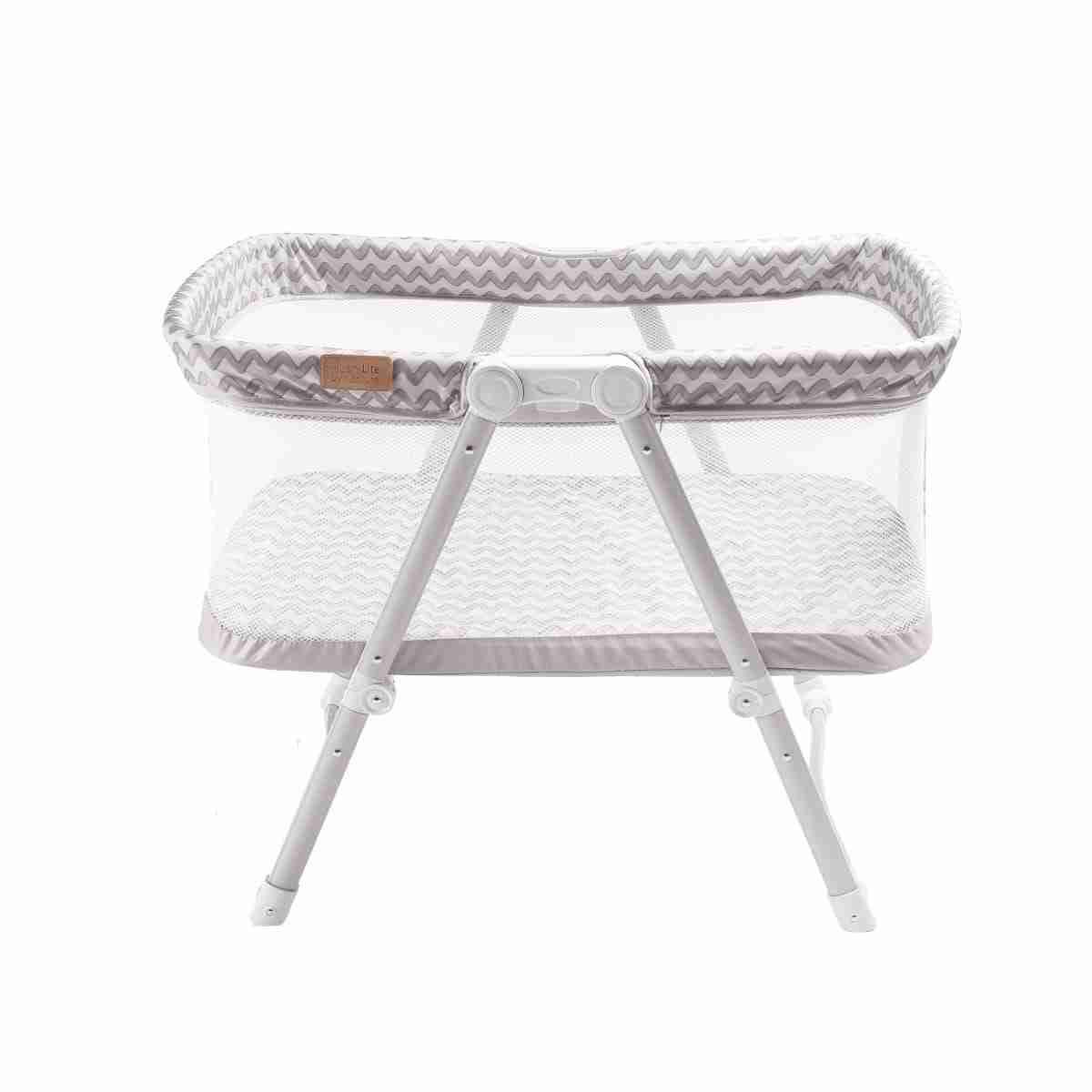 Stylish grey travel crib