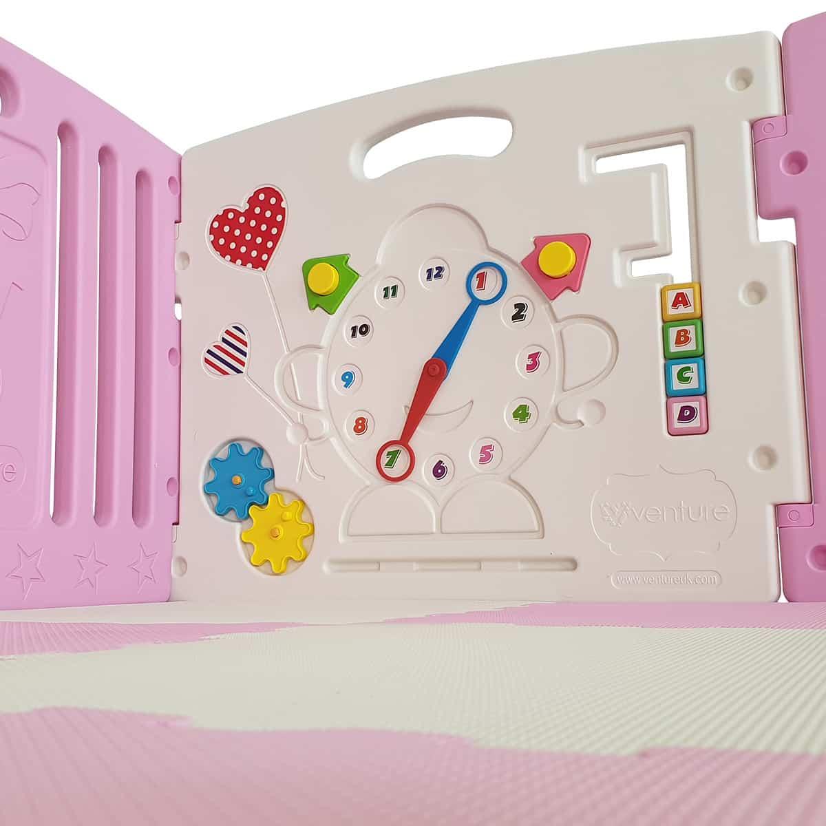 Pink playpen game panel