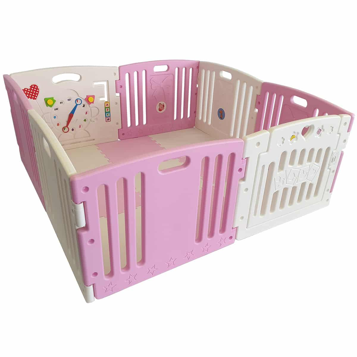 Venture All Stars DUO baby playpen in pink
