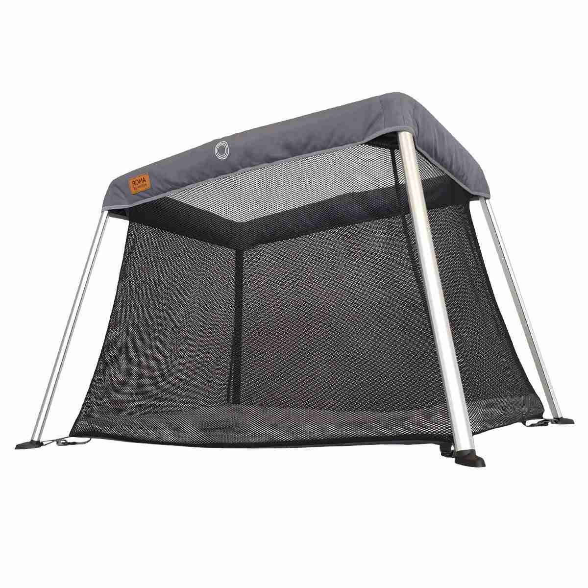 Mesh sides give the travel cot great visibility and ventilation