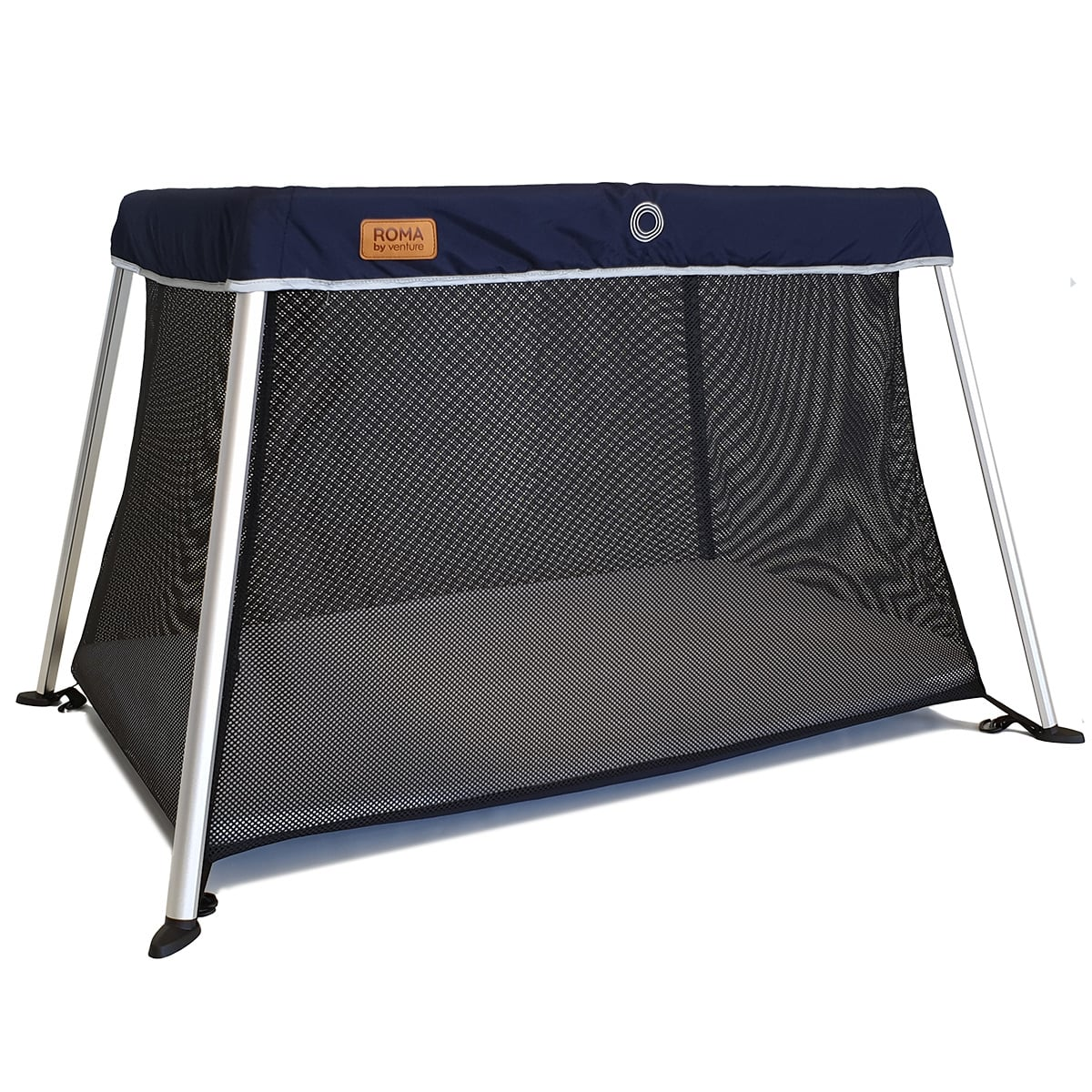 The Venture Roma travel cot in blue