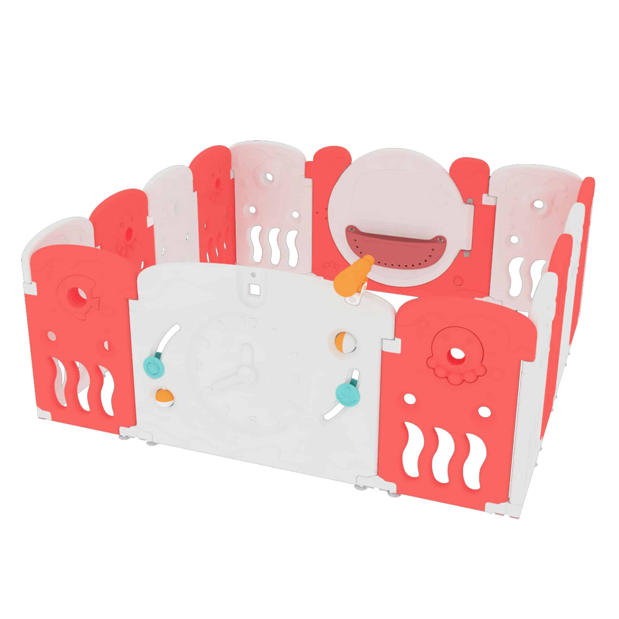 Themed coral playpen for baby and toddler