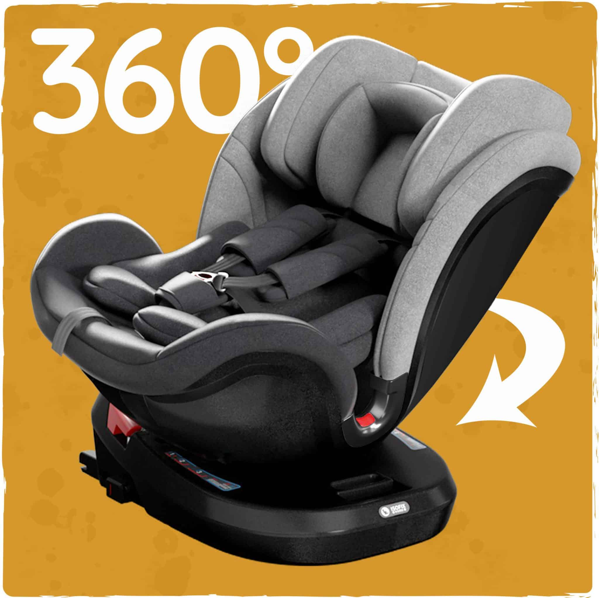 360 degree spin multi-group car seat