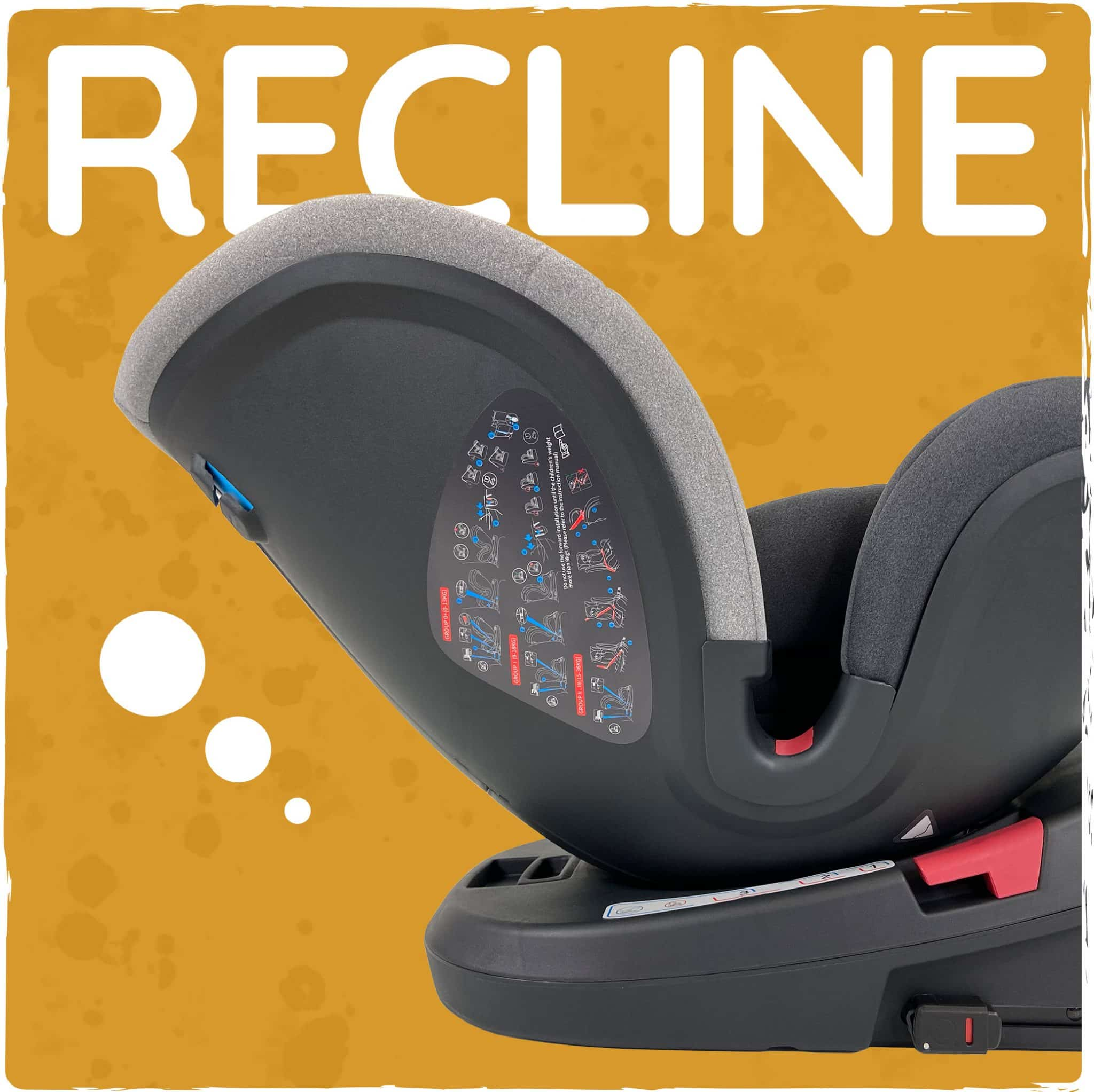 3 position recline both front and rear facing