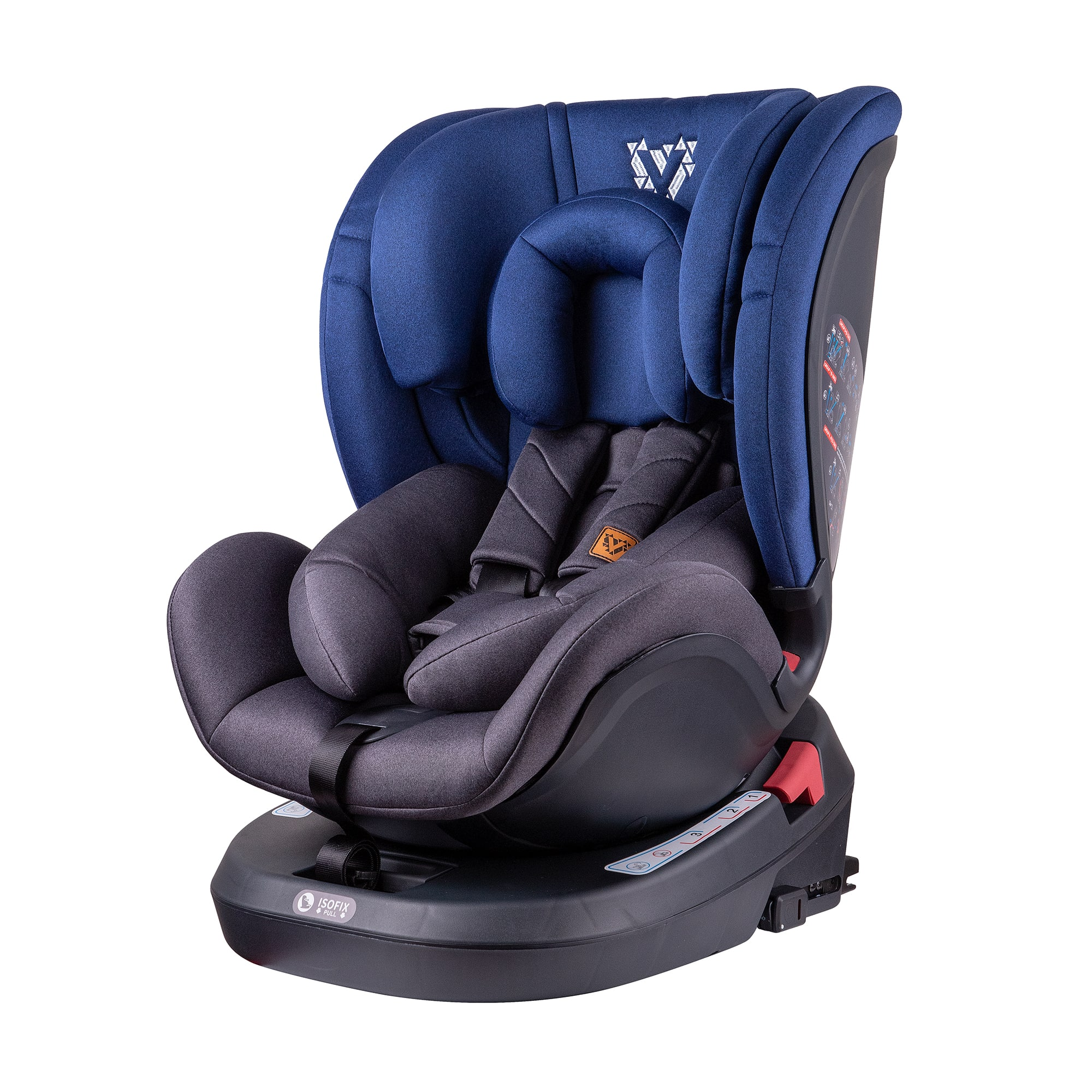 Blue Fusion 360 Spin Car Seat