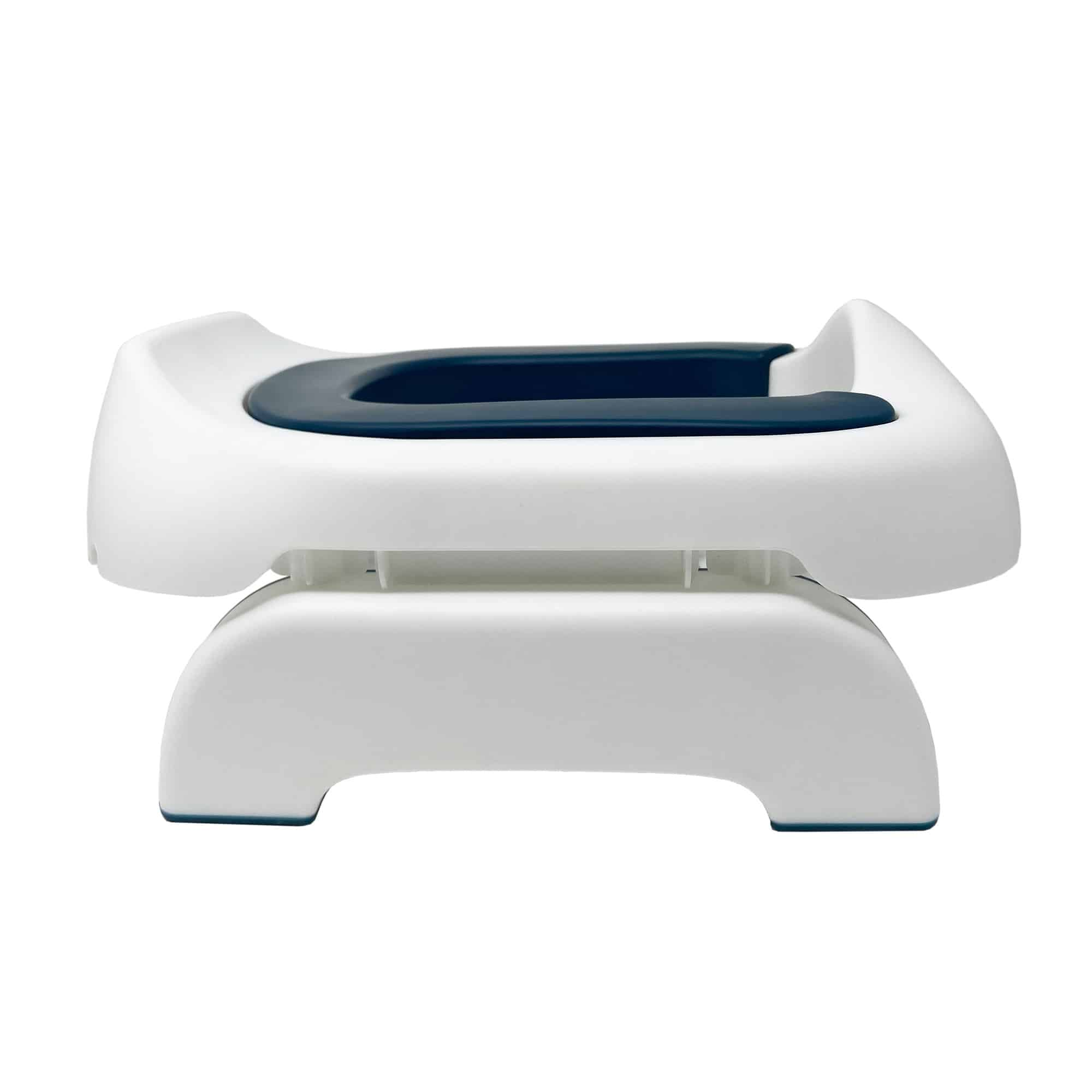 Pote Plus Blue travel potty side on view