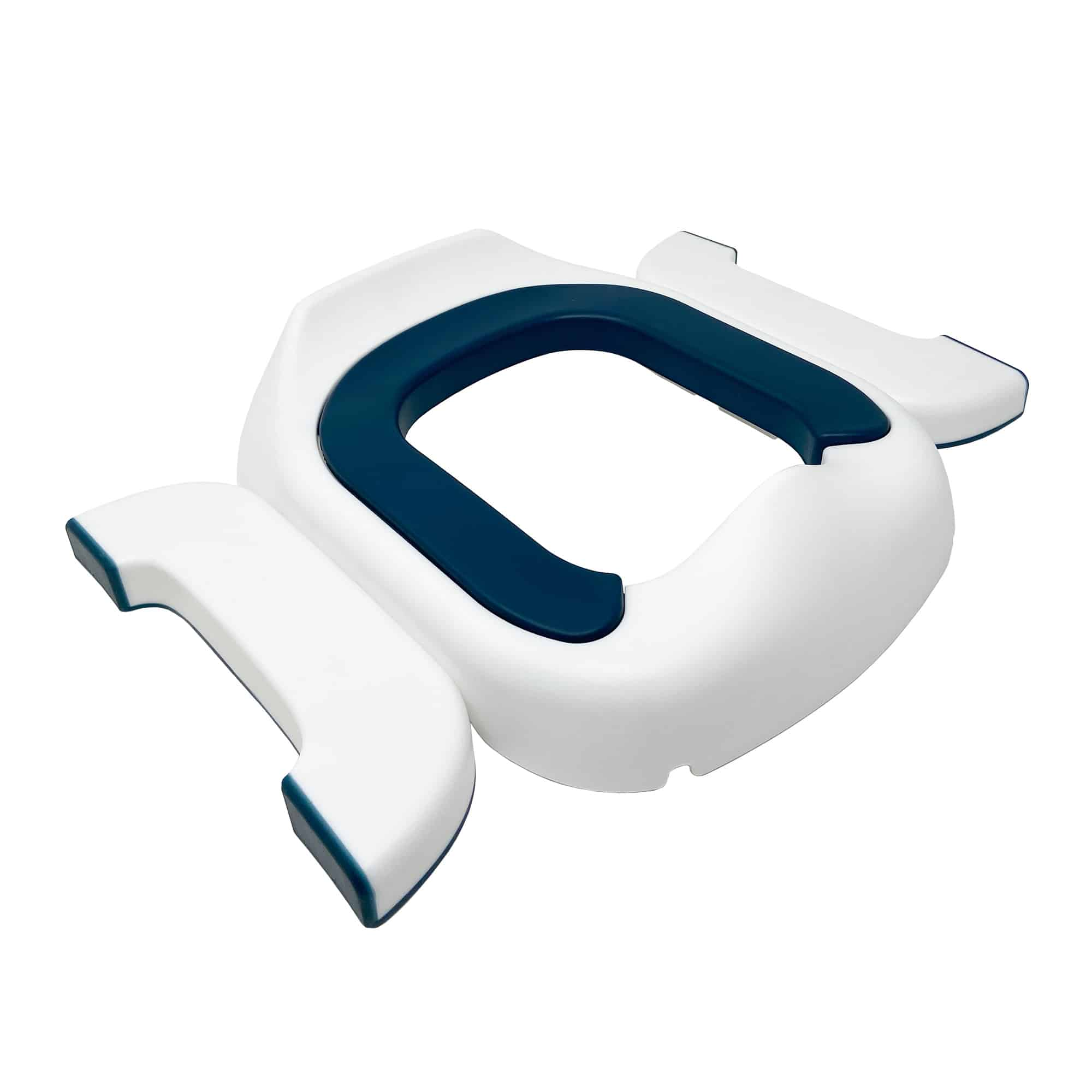 Blue Pote Plus travel potty with legs extended outward