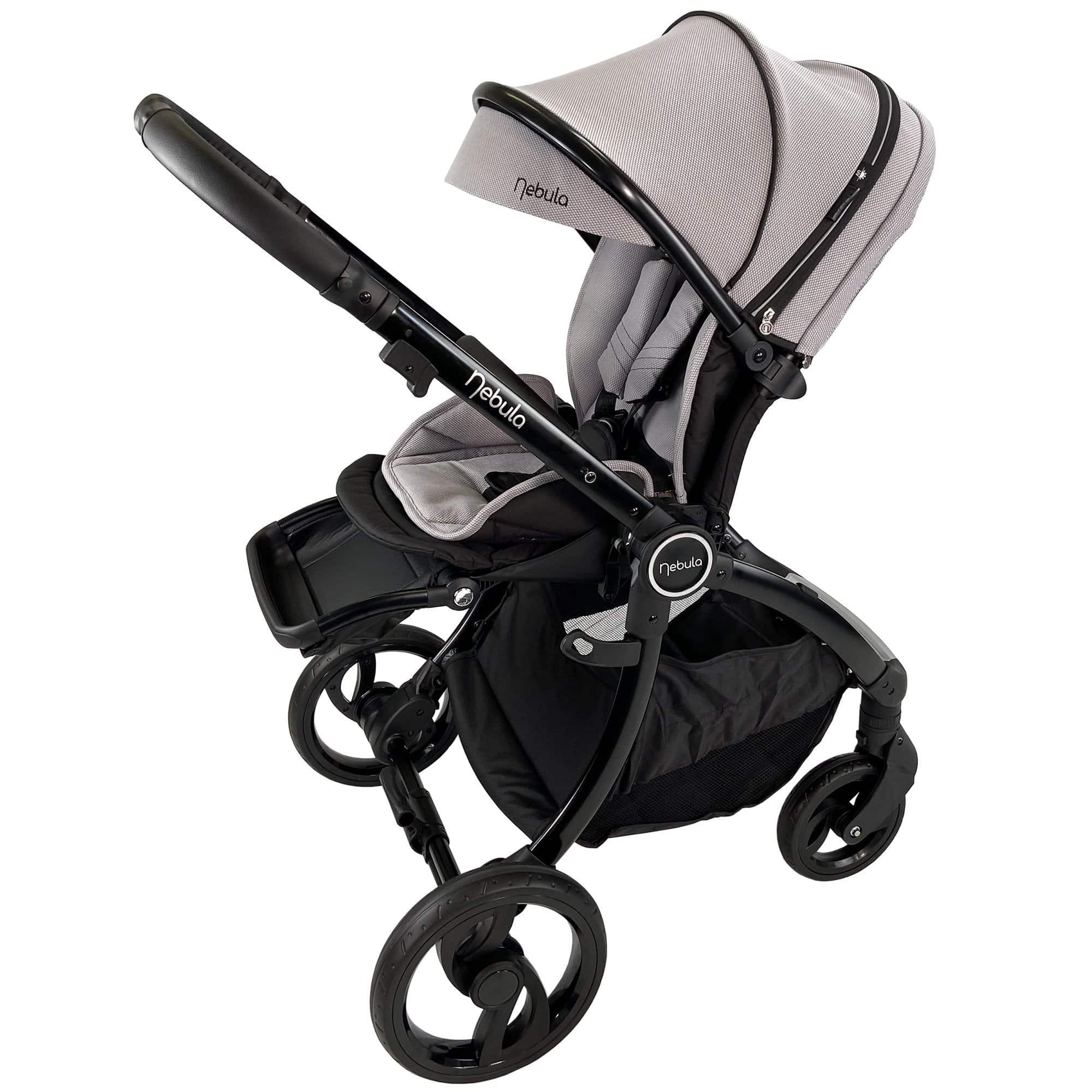 Venture Nebula Cool Grey baby stroller in parent facing mode