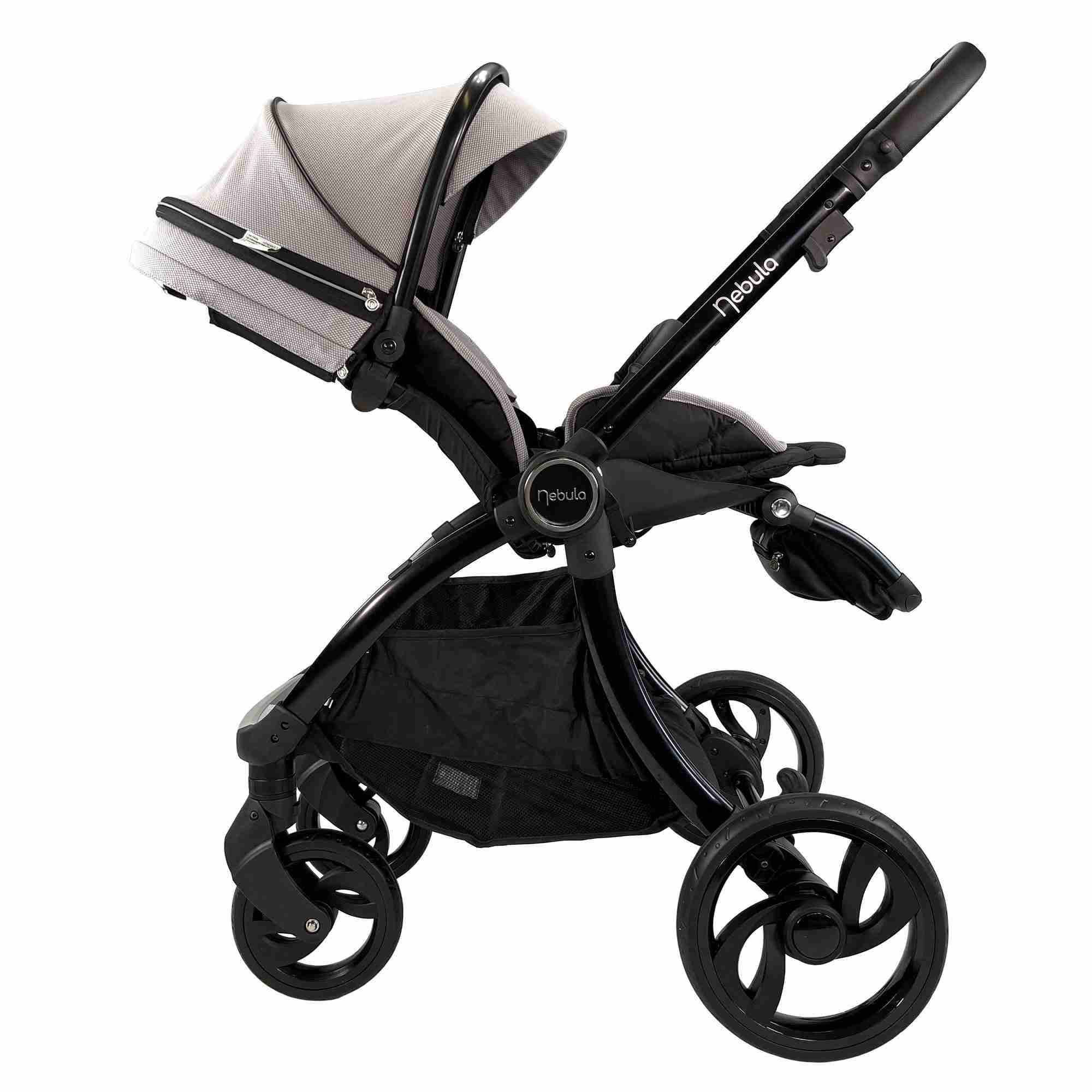 Venture Nebula Stroller Cool Grey in reclined position